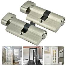 locks Copper Single Open Lock Cylinder Bedroom Door Lock Cylinder with Keys key lock(China)