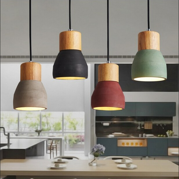 Nordic Retro Industria Cement Pendant Lights personalized Bar Cafe room Bedside hanging lights Modern simple Pendant lamp eiceo nordic ancient art cement resin creative pendant lamp minimalist retro cement lampshade for indoor cafe bars decor light