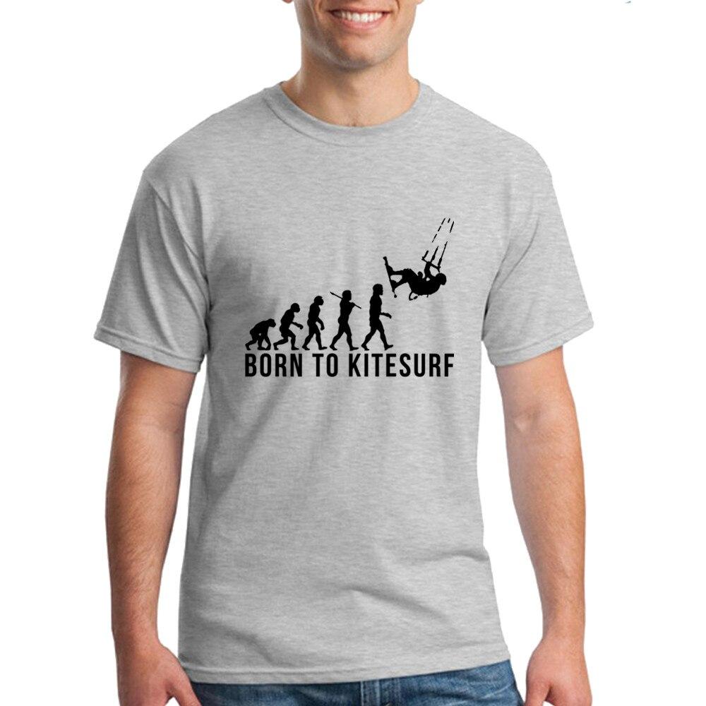 Design your own t-shirt maternity - Mens T Shirts Design Adult 100 Cotton Born To Kitesurf Men T Shirt Tee Shirt