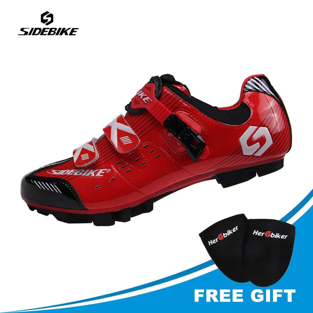 SIDEBIKE Professional Lightweight Cycling Shoes Mountain Bike Shoes Sapatilha Ciclismo Mtb Brand Sneakers Cycling Shoes For Men mountain bike four perlin disc hubs 32 holes high quality lightweight flexible rotation bicycle hubs bzh002