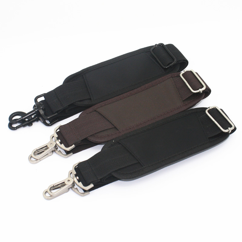 3.8CM Wide Adjustable Long Nylon Strap for Bag Strong Shoulder Strap Men Briefcase Laptop Bag Belt Bag Accessories Black KZ0395 hoyobish black nylon bag strap for men bags strong shoulder strap men briefcase laptop bag belt length 150cm bag accessory oh201