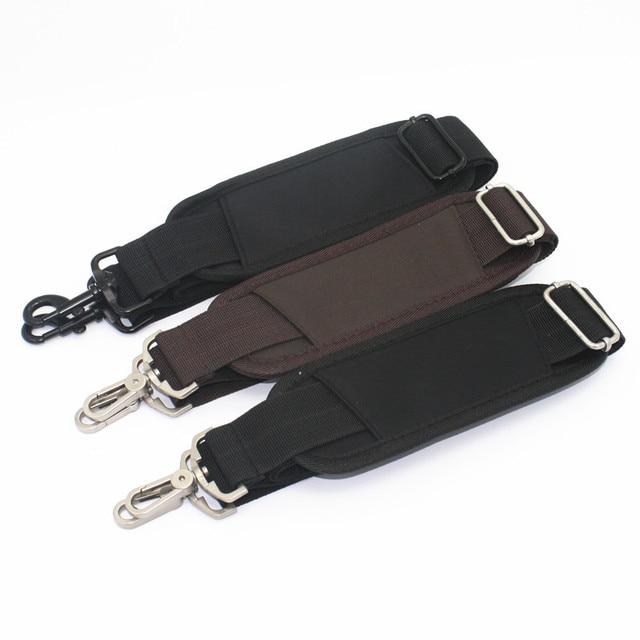 dcee812ea30 3.8CM Wide Adjustable Long Nylon Strap for Bag Strong Shoulder Strap Men  Briefcase Laptop Bag Belt Bag Accessories Black KZ0395