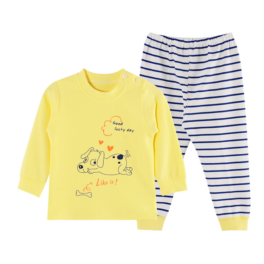 2018 Cotton Autumn Winter Baby Clothing Set Animal Warm Boys Clothes Brand Girls Top Pants Suit Newborn Outwear Clothing V045