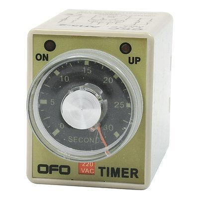 AH3-2 AC 220V 8 Pin DPDT 30 Seconds Power on Delay Timer Time Relay рубашки