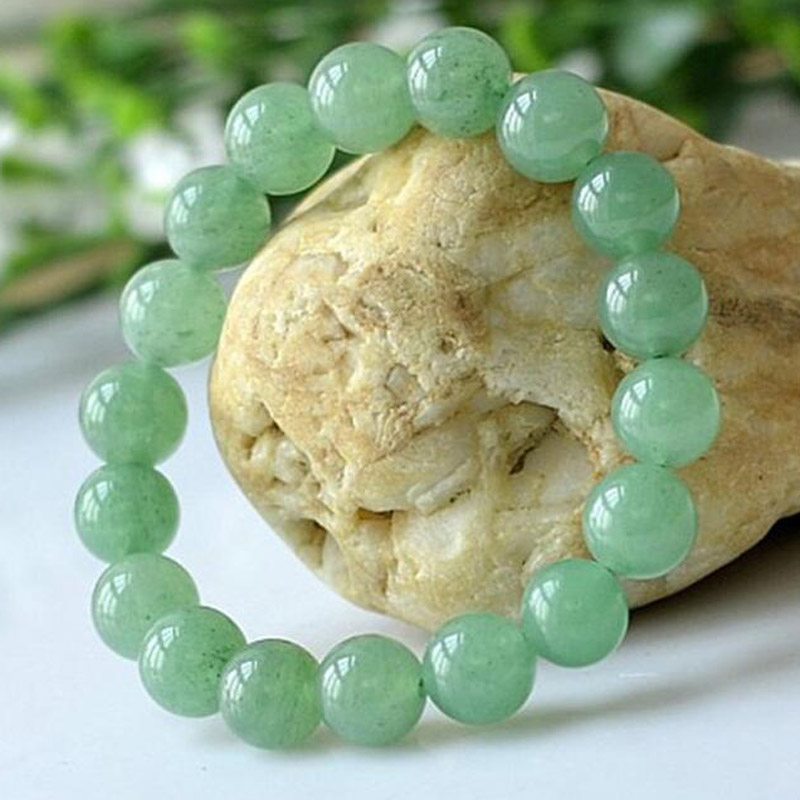 yu xin yuan fashion natural 10mm dong ling jade round beads charm trendy bracelets & bangles for women and men party