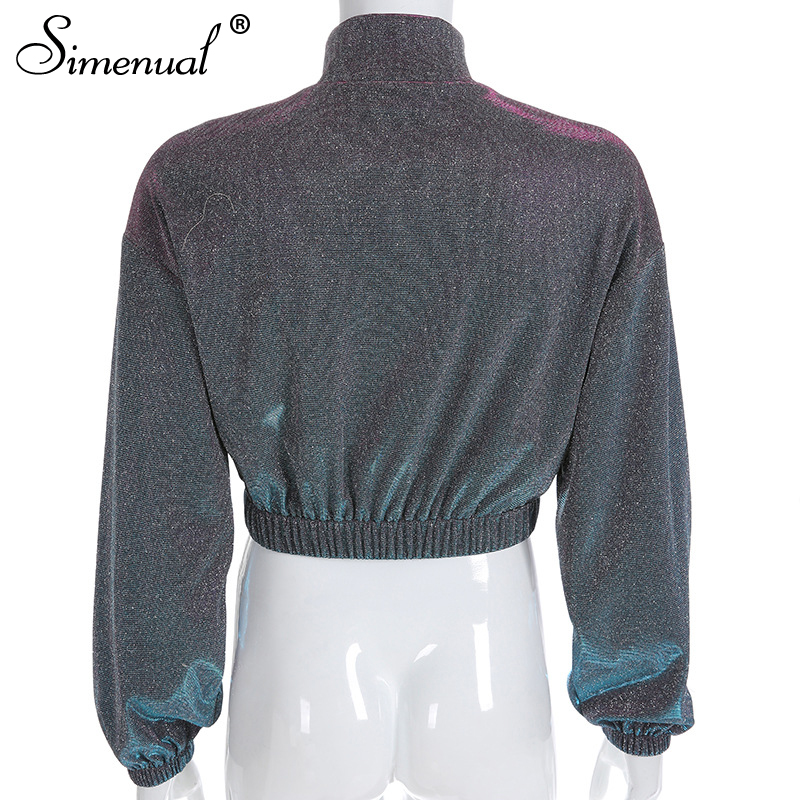 sequin zipper highstreetwear women sweatshirts long sleeve turtleneck (6)