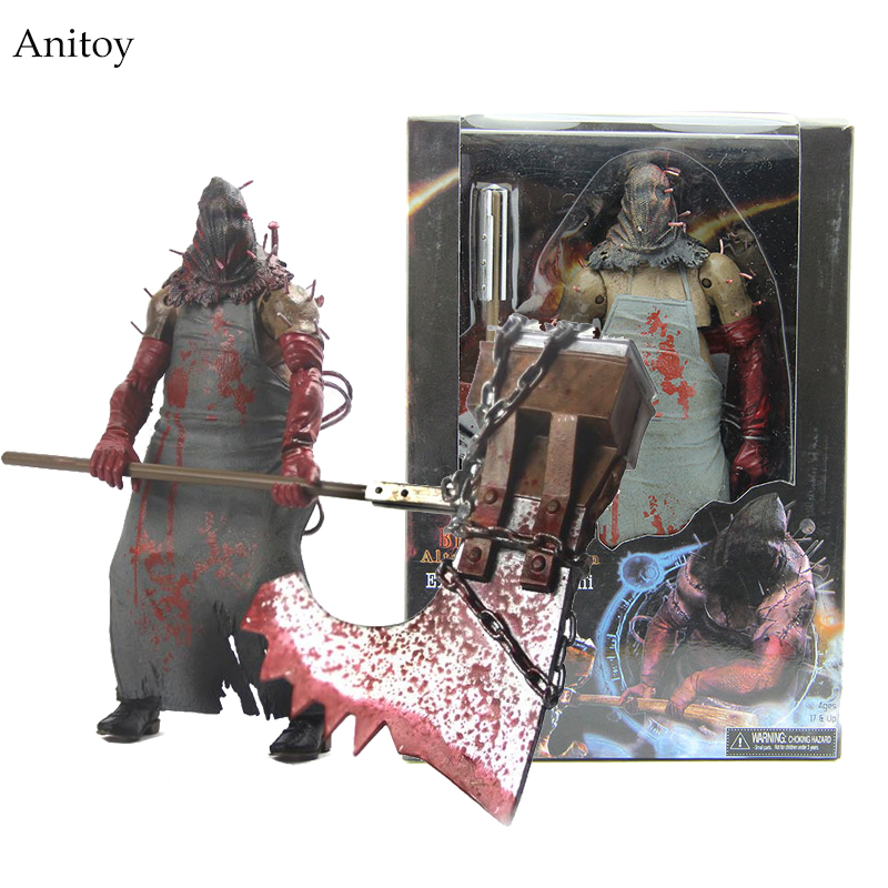 Free Shipping 1pcs NECA Resident Evil Biohazard Executioner Majini 7 PVC Action Figure Collectible Model Toy Gift MVFG019 neca epic marvel deadpool ultimate collectible 1 4 scale action figure model toy 16 45cm ems free shipping