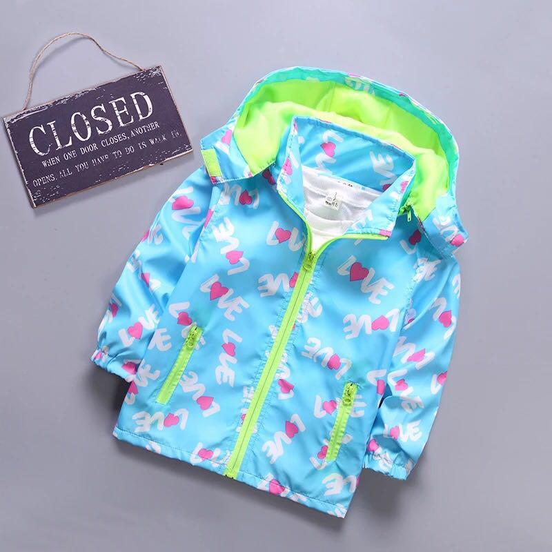 BibiCola/на весну для девочек Костюмы 2018 новорожденных девочек мультфильм Куртки Детская куртка с капюшоном пальто Детская одежда ветровка