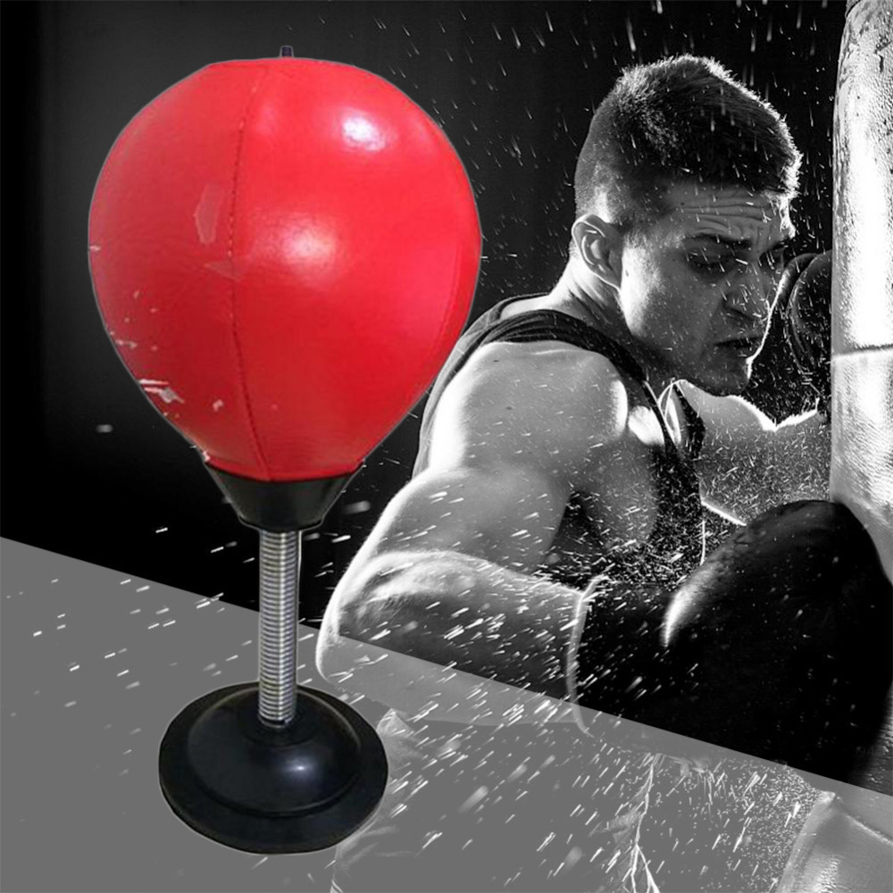 Desktop Punching Ball Suction Freestanding Reflex Speed Ball Boxing Bag Punching Pedestal Ball With Free Inflator Random color 5