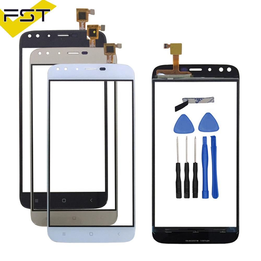 מגע טלפון סלולרי עם מסך מגע עבור Oukitel u22 חיישן לוח מגע מסך מגע שחור/לבן/זהב צבעים תיקון טלפון + כלים חינם
