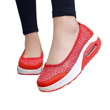 VTOTA Women Flats Shoes 2019 Comfortable Flat Air Mesh Summer Shoes Female Zapatos de Mujer Black Slip On Shoes For Women H40