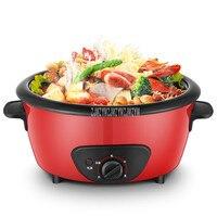 4L Elektrische Hot Pot Multi Fornuis Pot Scheidbaar non-stick Coating Elektrische Koken Machine Stoven Hotpot Fornuis 1450W RHG-40A1