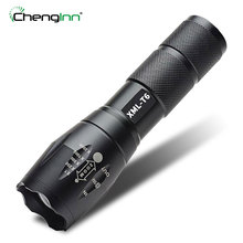 1800LM Aluminum Waterproof Zoomable CREE XM-L T6 LED Flashlight SOS LED Torch light 18650 Rechargeable Battery  AAA Chenglnn