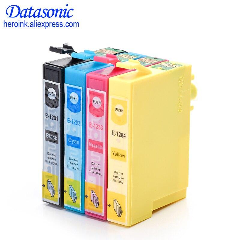 4 Colors T1281 T1282 T1283 T1284 Full Ink Cartridge For Epson Stylus S22 SX125 SX130 SX230 SX235W SX420W Office BX305F 305FW