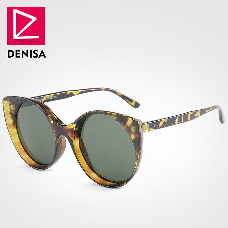 DENISA UV400 Marca Polarizada Óculos De Sol Das Mulheres 2019 Óculos olho de Gato Do Vintage óculos de Condução Anti-Reflexo Óculos de Sol Feminino G55945