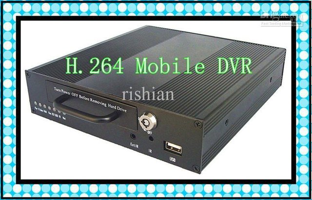 Economic H.264 Mobile DVR with 4 Channel Audio/Video input CH AV output
