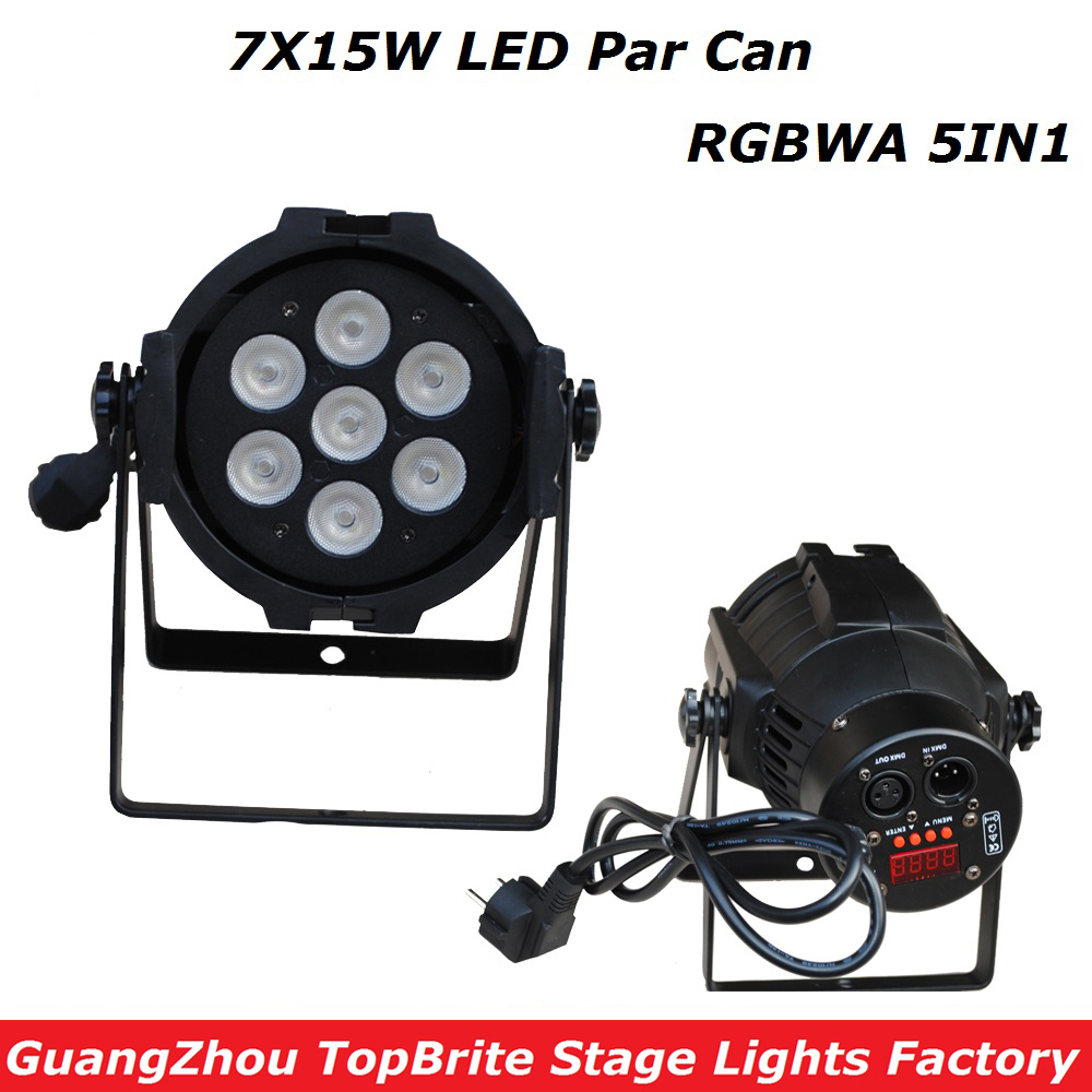 1XLot New Led Par Light 7X15W RGBWA 5IN1 110W DJ Disco DMX Stage Lights Led Par Can Effects Club Party Wedding Events Lighting fashion girls winter coat long down jacket for girl long parkas 6 7 8 9 10 12 13 14 children zipper outerwear winter jackets