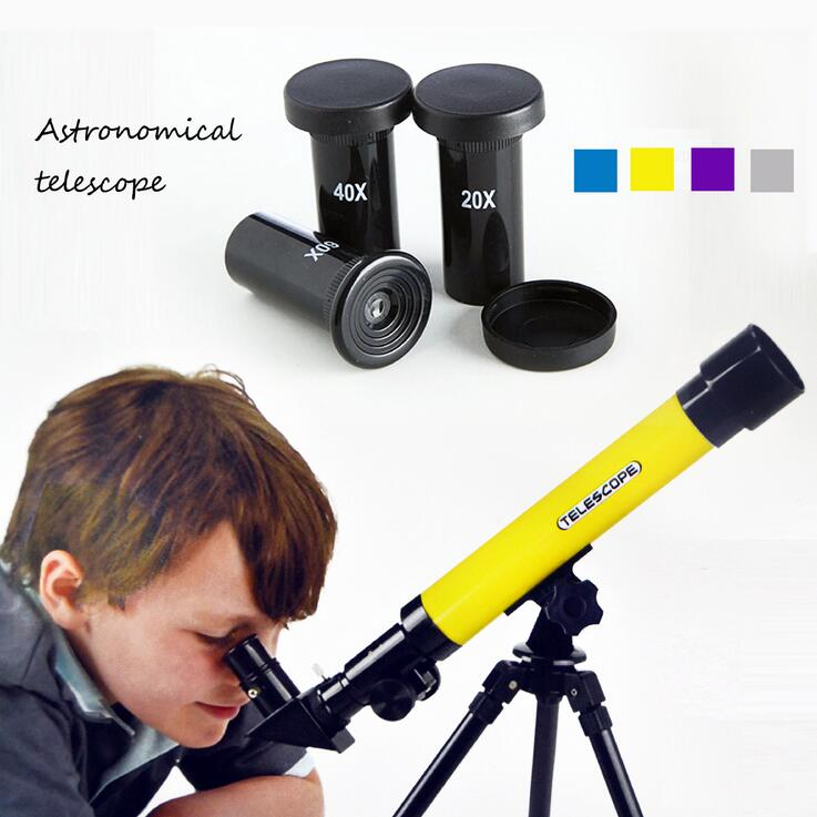 Children's Educational Astronomical Telescope Outdoor Spotting Telescopio Tripod Christmas Gift for Children Monocular Telescope f40040m entry level zoom terrestrial astronomical telescope compact tripod outdoor monocular telescope children gift kids toy