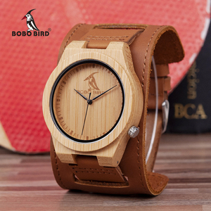 Image 1 - Reloj masculino BOBO BIRD Bamboo para hombre, reloj de madera, relojes de cuarzo, logotipo personalizado, se acepta Envío Directo