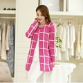 Free Shipping 2016 new Loose Long Cardigan Women Knitted Sweaters For Ladies  Striped Cardigans Women Fashion   Cardigan Sweater