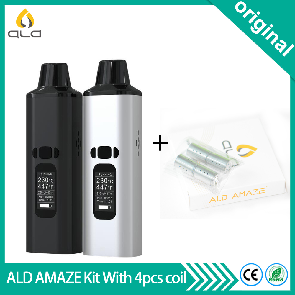 Original Electronic Cigarette ALD AMAZE Dry Herb Vaporizer Built in 1800mAh Battery Herbal Portable Vape Pen