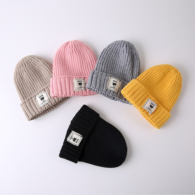 New Arrive Korean Version Of Autumn And Winter Children Warm Wool Hat  Infant Thin Knitted Hat Baby Soft Cotton Cap Dropshipping 124da285278