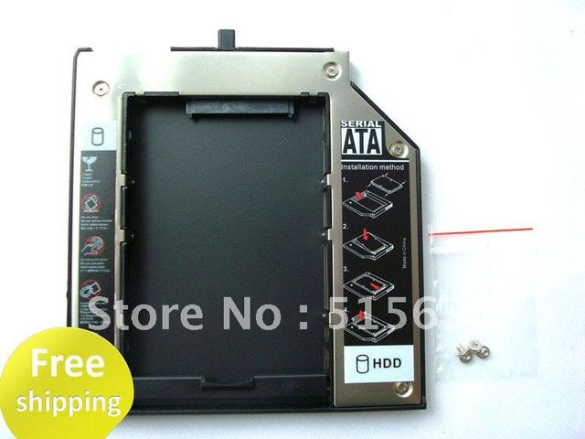 New Sata 2nd HDD Caddy For IBM ThinkPadT400s T410 T410s T500 W500 43N3412