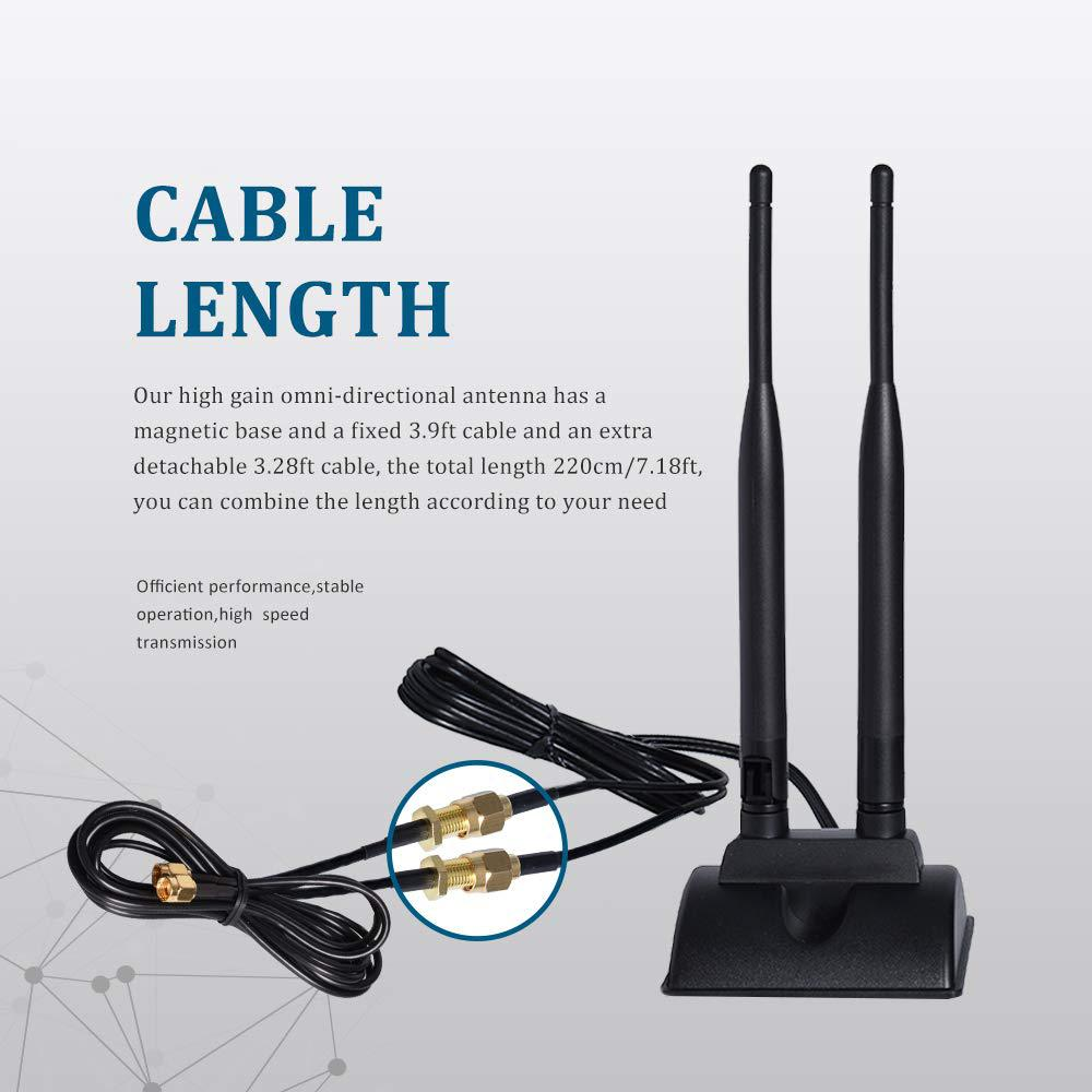 1 x 2dBi WiFi RP-SMA Antenna Omni Directional For TP-Link ASUS Network Routers