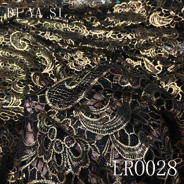 African golden Lace Fabric, african lace fabric 2017 high quality lace nigerian lace fabrics 5yard