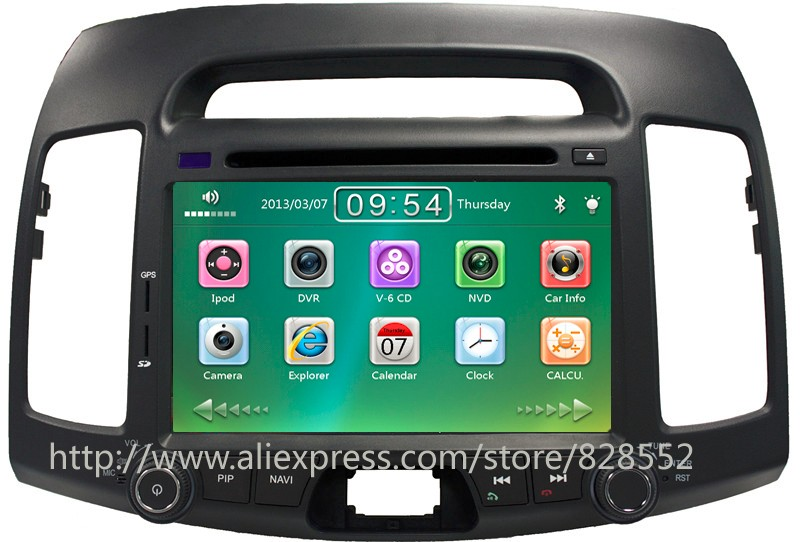 Free Shipping 2 Din Dvd Player For Hyundai Elantra 2006 2011 Old Series With Car Radio Bluetooth
