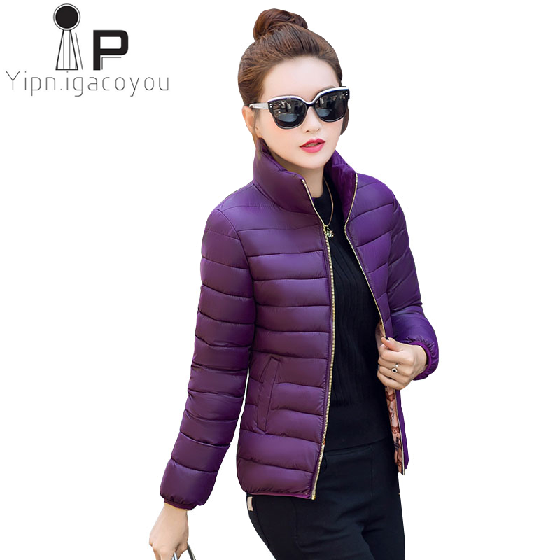 Autumn Winter   Down     Coat   Women Short Wadded jacket Ladies ashion Parkas Plus size Slim Female Outerwear Casual   Down   jacket 4XL