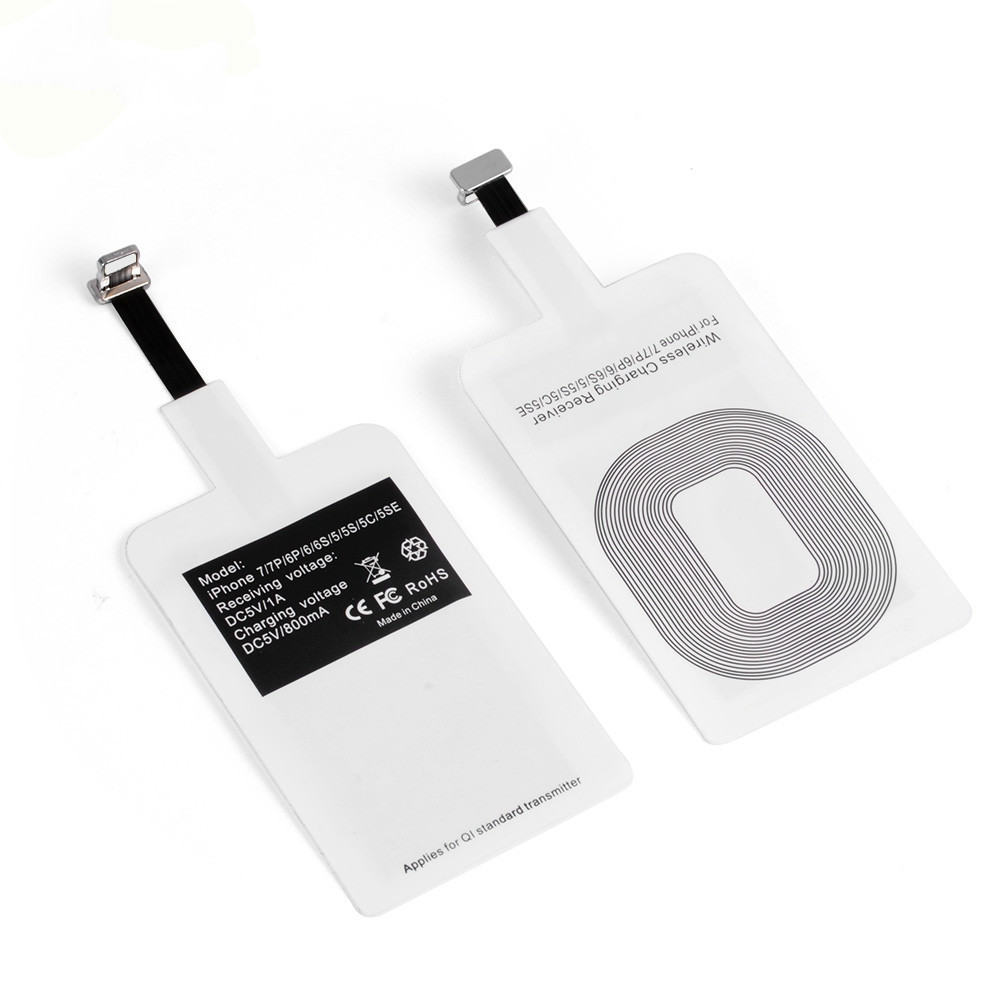 Iphone Cargador Pad de Carga Qi Inalámbrico con Receptor para iPhone 6 6 Plus 5S 5