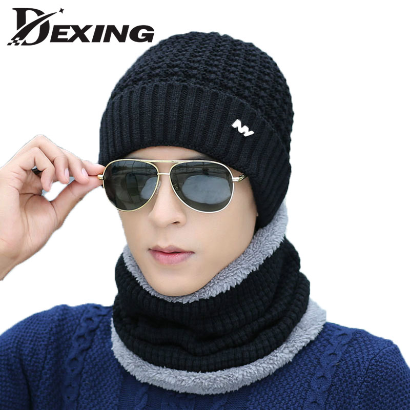 Knitted Hat Fashion Beanies Knit Men's Winter Hat Skullies Bonnet For Men Women Beanie Casual Warm Baggy gorro bonnet homme fashion unisex knitted hat beanies knit men warm winter sets hat scarf collar caps women skullies bonnet beanie casual baggy