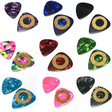 100pcs/lot Celluloid Guitar Picks 0.96mm Heavy Mixed Colors w/ Cushion Ring