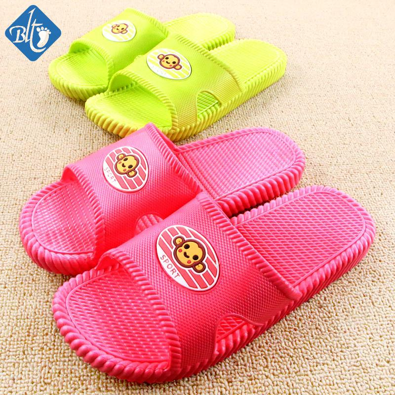2016 Bathroom Slippers Women Men Couples Home Shoes Soft ...