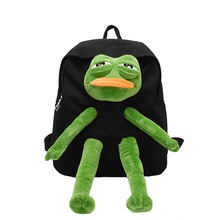 Żaba Stereo plecak dla lalek Cartoon dziewczęcy plecak płócienny tornister Kawaii damska torba na ramię duża torba podróżna damska