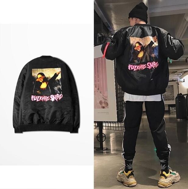 Putain Swag Harajuku style japonais veste MA1 Bomber veste pilote vestes Hip Hop Streetwear Sport hommes manteau
