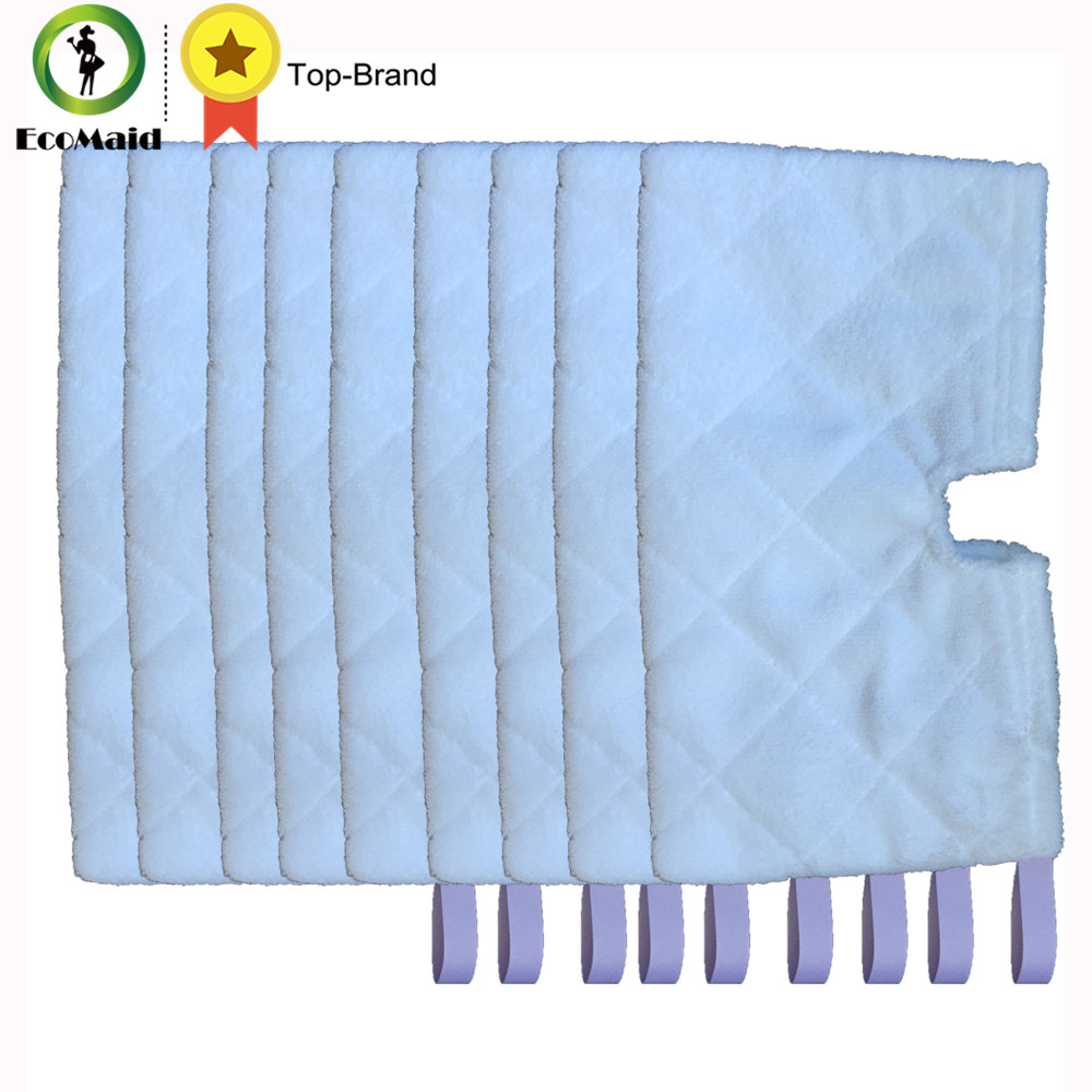 9 pcs Rectangle Mop For Shark Euro Pro Pocket Steam Mop Compatible Replacement Pocket Pads Euro Pro Microfiber S3550 S3501 S3601 4 pcs white microfibre steam mop cleaning floor washable replacement pads compatible for x5 h20 series dust cleaner part