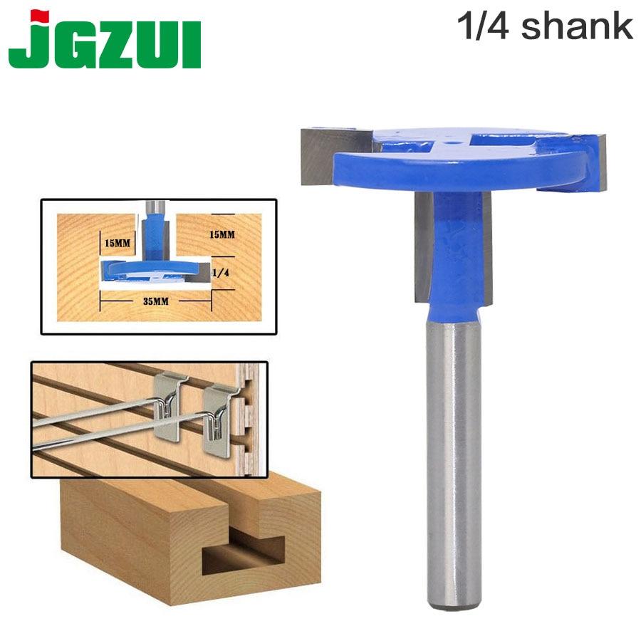 цена на 1pcs Top Quality T-Slot & T-Track Slotting Router Bit - 1/4Shank For Woodworking Chisel Cutter Wholesale Price