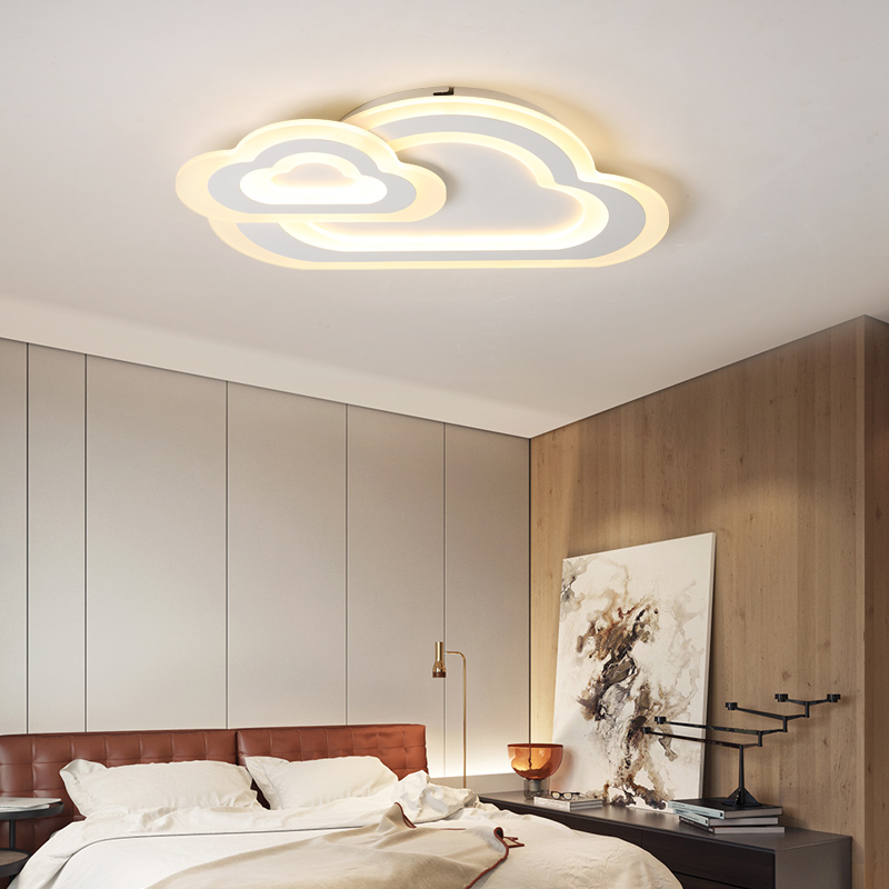 15 Ultra Modern Ceiling Designs For Your Master Bedroom: Ultra Thin White LED Modern Ceiling Lights Acrylic Ceiling