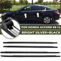 4PCS Car Outside Window Moulding Trim Weatherstrip Seal Belt Weather Strip For Honda for Accord 2008 2009 2010 2011 2012