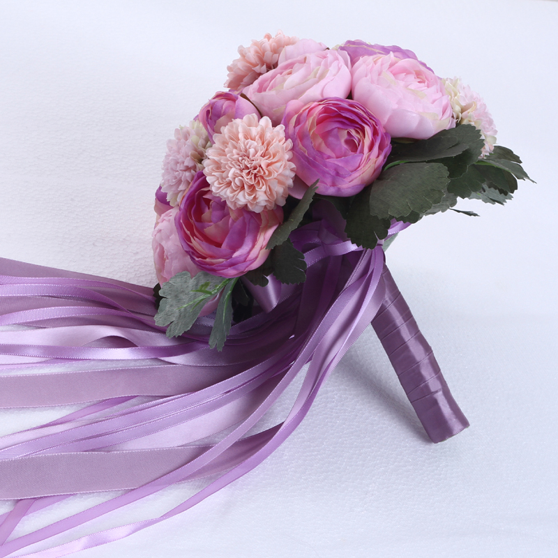 Light purple the peony flowers with Korean brides hand bouquet ...