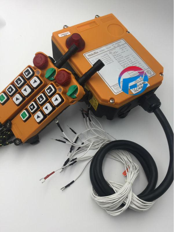 Industrial Hoist Crane remote Control F24-6D (2Transmitter+1Receiver ) AC/DC65-440V industrial hoist crane wireless remote control f21 e1 2transmitter 1receiver ac dc 65v 440v