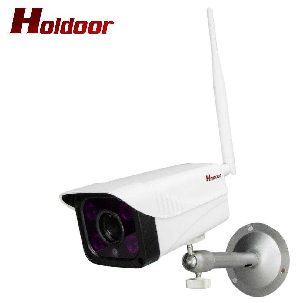 Holdoor WiFi AP Caméra Longue Focale F1.2 Sans Fil CIB Surveillance Cam 1.0/1.3/2.0 MP Extérieure jusqu'à 100 Mètres Nuit Vision