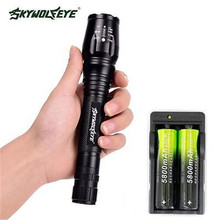 2016 New 4000 lumens led flashlight torch adjustable lights & lighting torch for AAA and 18650 battery rechargeable