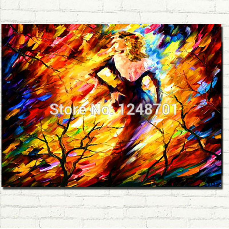 ღ ღPalette Knife Oil Painting Naked Woman Modern Wall Art On ...