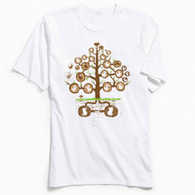 Young Tops Tees Men Tshirt The Family Tree Simple Style T Shirt Summer Cotton Round Neck Street T-Shirt 2018 New Novelty Sweater