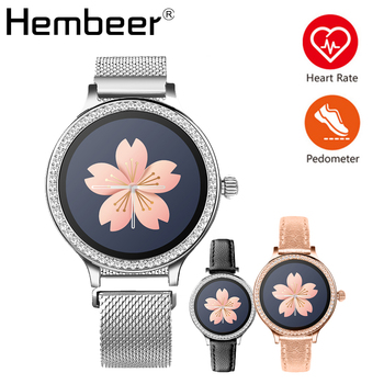 Hembeer Smart Watch Women IP68 Waterproof Swimming Running Riding Sport Finess Watch for IOS Android xiaomi iphone huawei phone