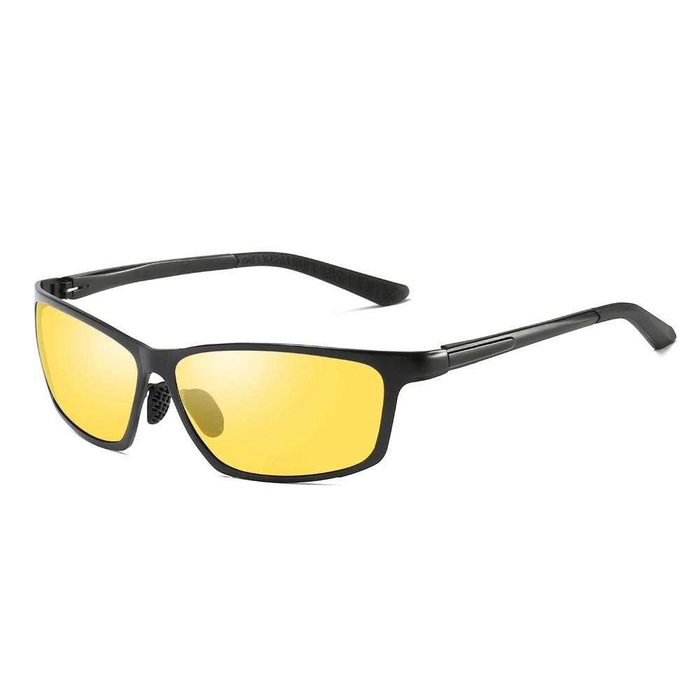 Aluminium Mens Polarized Sunglasses Night Vision Driving Anti Glare Lens Glasses