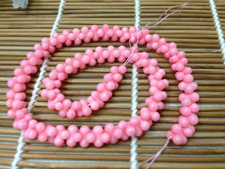 4x8 мм розовый коралл в форме арахиса бусины полудрагоценный камень свободные бусины для модных ювелирных изделий 10 нитей в партии